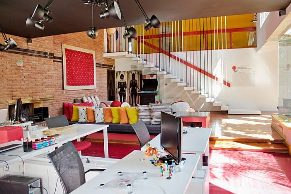 fun office design ideas Another fun and colorful office design by Agustina Bottinelli