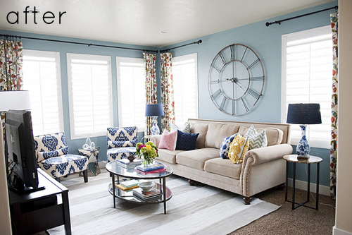 Chic and bright living room makeover