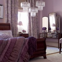 Purple and white bedroom combination ideas