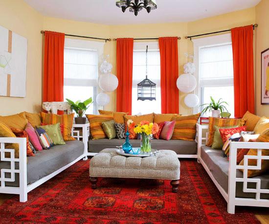 red living room 15 Red living room design ideas