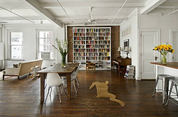 kitchen shelf decor counter resurfacing spacious new york loft for sale