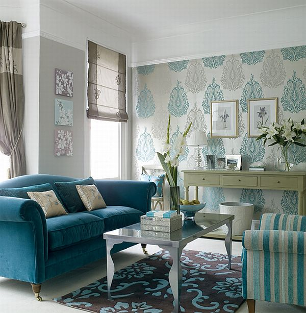 wallpaper ideas for living rooms contemporary decorating your interiors view in gallery