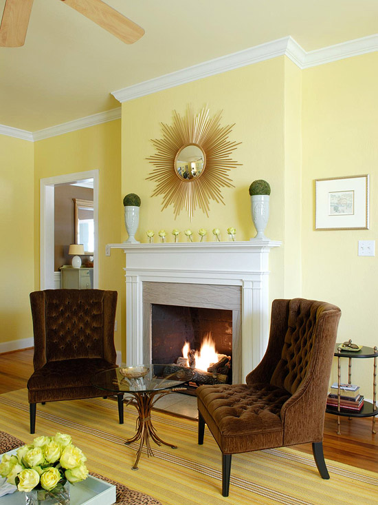 yellow and brown living room decorating ideas common paint colors for rooms design view in gallery