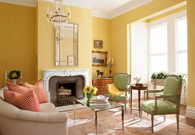 Yellow Living Room Color Ideas