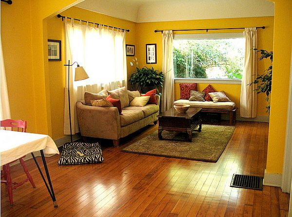 yellow and brown living room decorating ideas fisher price loving family design view in gallery