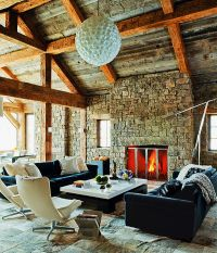 Modern Montana residence with a western interior