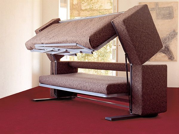 The convertible Doc XL sofa bed designed for small spaces
