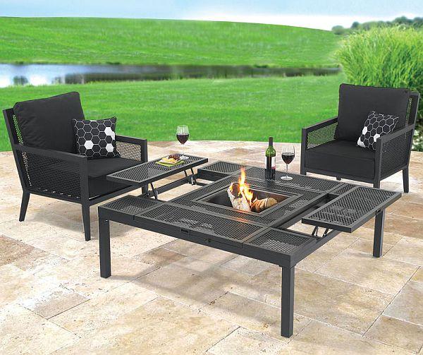 Convertible outdoor coffeedining table