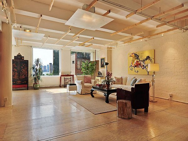 Spacious New York loft with an industrial dcor