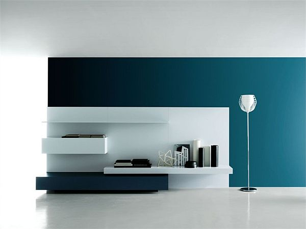 simple tv wall unit designs for living room paint colour ideas the modular modern by piero lessoni