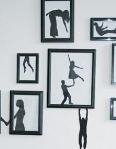 Paper silhouette art also easy diy wall ideas you  ll fall in love with rh homedit