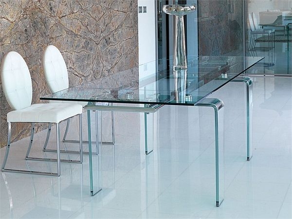 Ghost Rectangular Dining Crystal Table