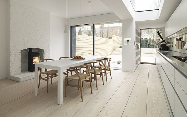 Fresh interiors with wooden floors and Nordic design