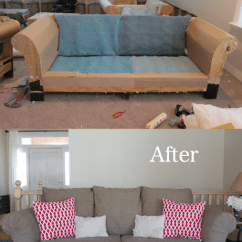 Reupholstering Sofas American Furniture Leather Sofa 6 Projects Showing How To Reupholster An Old Couch Before And After