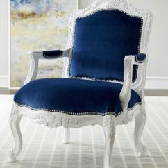 Royal Blue Chairs Club Upholstered Dark Upholstery Chair