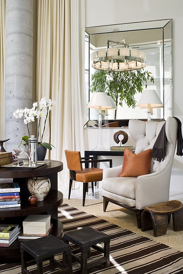 Simple Minimalist Contemporary Living Room The Mirrors Give A Special Magic To Decor Of You Can Place