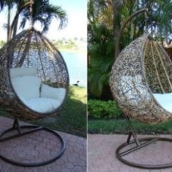 Swing Chair Patricia Urquiola Outdoor Wicker With Stand By The Trully