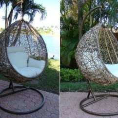 Outdoor Wicker Swing Chair Oversized Leather And A Half The Trully