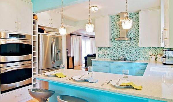 Beautiful turquoise interior design