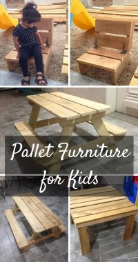 Cute Kids' Furniture Made Of Wooden Pallets