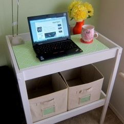 Desk Chair Fabric Ballard Designs Covers Creative Diy Project: Changing Table Turned Into An Office