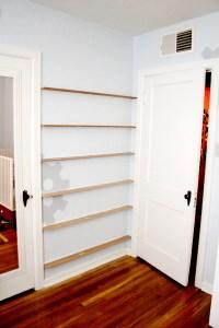 DIY forward facing bookshelves for the childrens room