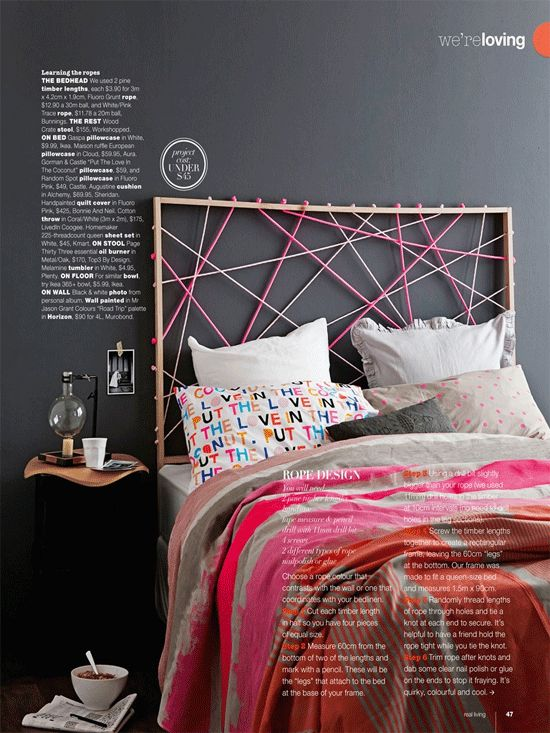 DIY Rope Headboard For A Personalized Bedroom