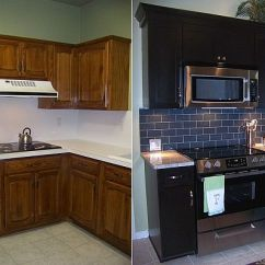 Changing Countertops In Kitchen Stove Classic Turned Into A Modern And Spacious Black Design
