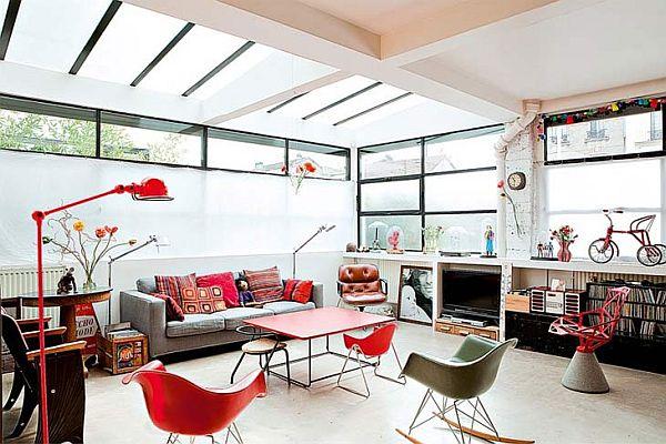 Bright French Loft With A Retro Interior Dcor