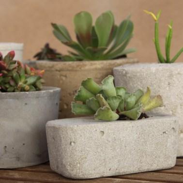 I vasi di cemento sono davvero moderni e molto originali e chiunque di voi può realizzarli con un risultato che sarà decisamente elegante e molto naturale
