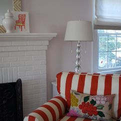 Red Sofa White Living Room Dark Furniture Ideas 5 Tips For Using Stripes In Your Home.