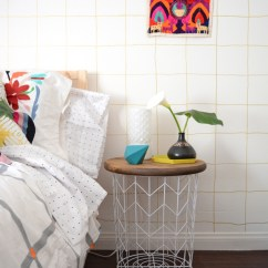 Diy Living Room Side Tables Lime Green And Gray Ideas Designing Your Own Table 10 Inspiring Suggestions Wire Basket