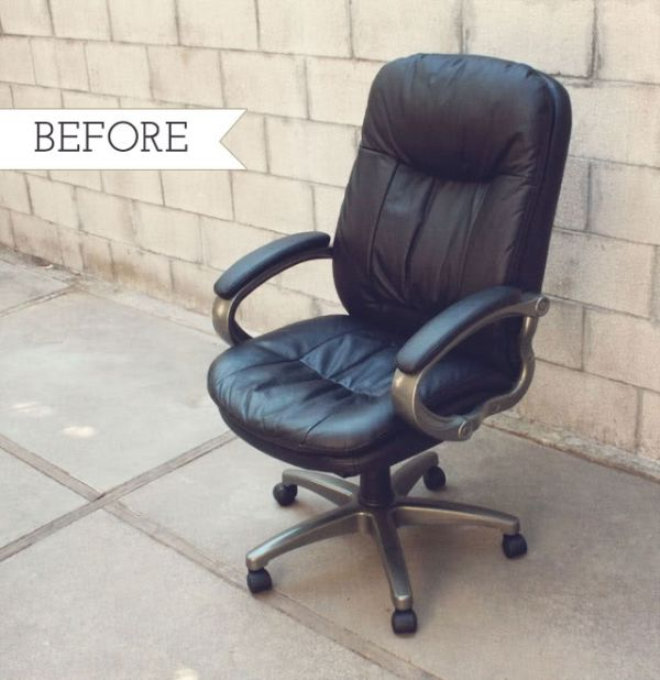 reupholster a chair with leather old fashioned bedroom chairs chic and colorful desk makeovers for diy lovers