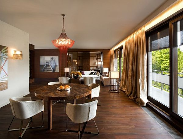 Contemporary apartment with Oriental and Spanish accents