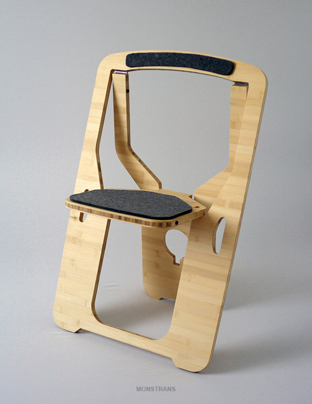 The Folding Chair For Small Spaces by Monstrans