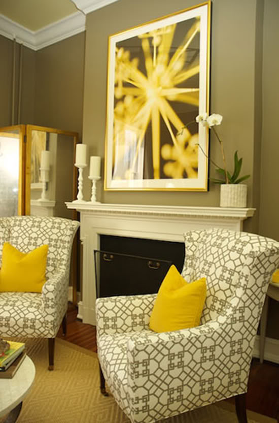 yellow and gray rug for living room ideas modern 2017 hot color combo