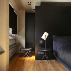 Wood Sofa Bed With Storage Foam Fold Out A Bachelor's Black Dream Home