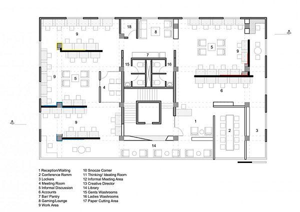 22 feet advertising agency office interior design