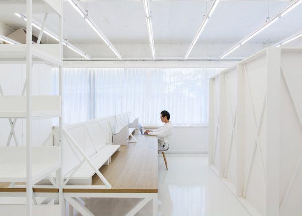 White interior design office in Seoul