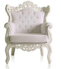 White Royal Armchair