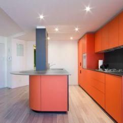 Colorful Kitchen Accessories Blue Rugs White And Orange Modern By Morris Sato Studio