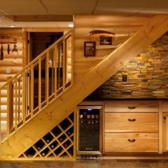Under Kitchen Sink Storage Hickory Cabinets How To Efficiently Add The Stairs
