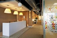 Colorful corporate office interior design by Space ...