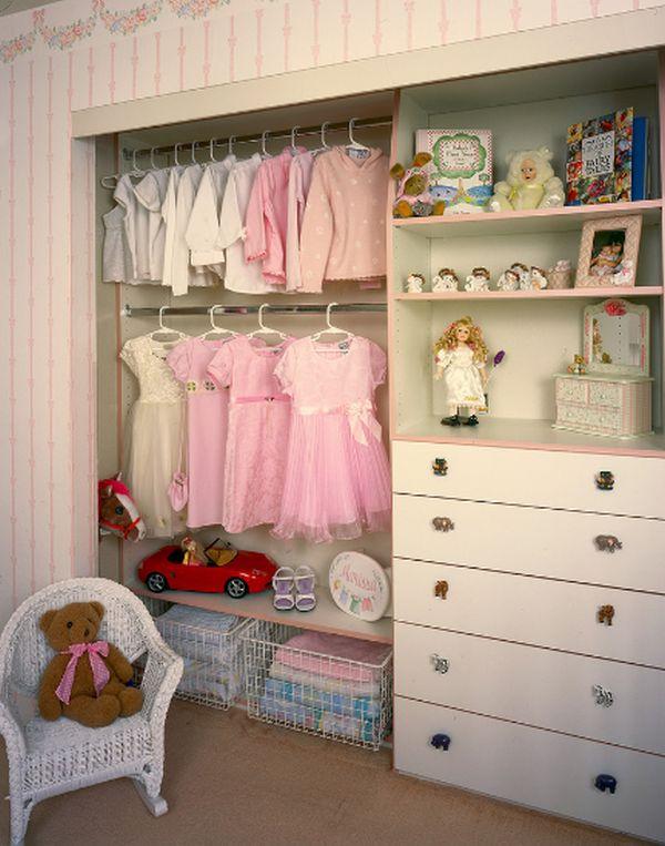 A girls walkin closet design ideas