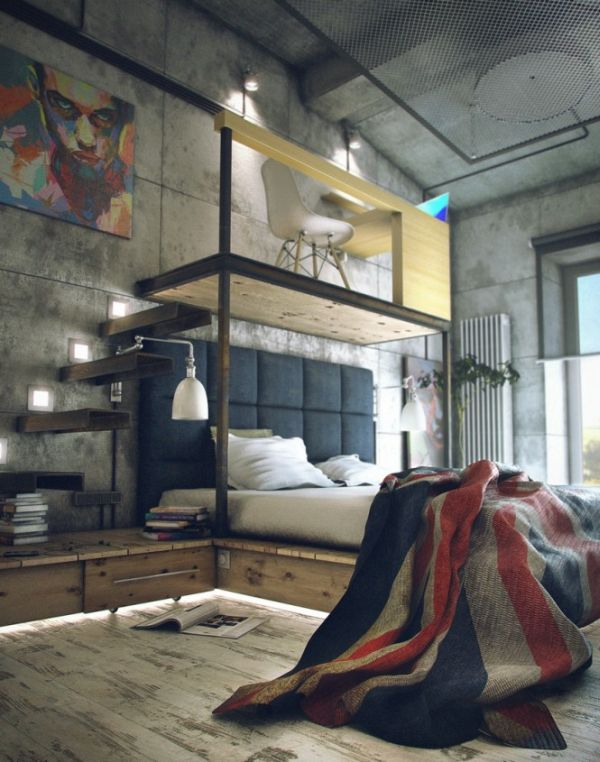 A loft with a functional industrialstyle interior