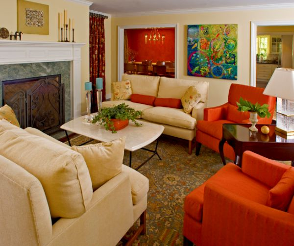 orange living room designs model design 10 traditional decor ideas