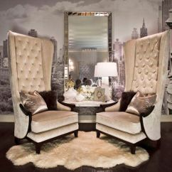 High Back Tufted Chair Cover Rentals Durham Region Interior Design Ideas For A Glamorous Living Room