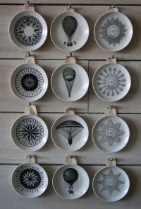 Decorative vintage inspired wall plates