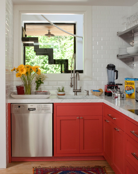 coral kitchen cabinet colors 6 Tips To Using Coral In The Kitchen