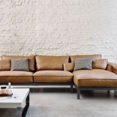 Leather Sofa With Wooden Frame Burgundy Cushions The Caresse Fly Sectional Cofa By Adp Design